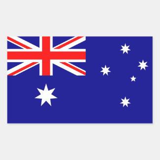 Rechteckaufkleber mit Flagge von Australien Rechteckige Sticker