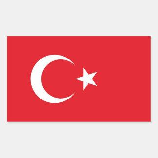 Rechteckaufkleber mit Flagge von der Türkei Rechteckiger Aufkleber