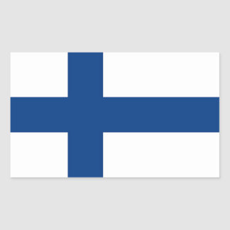 Rechteckaufkleber mit Flagge von Finnland Rechteckiger Aufkleber