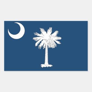 Rechteckaufkleber mit Flagge von South Carolina Rechteckiger Aufkleber