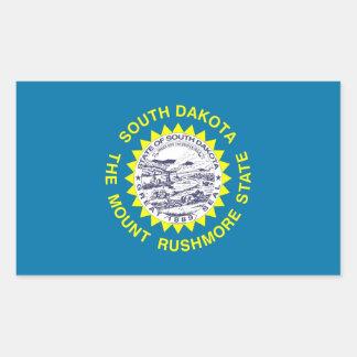 Rechteckaufkleber mit Flagge von South Dakota Rechteckiger Aufkleber