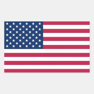 Rechteckaufkleber mit Flagge von USA Rechteckiger Aufkleber