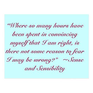 Rechtes oder falsches Jane Austen-Zitat Postkarte