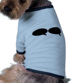 Rechtes Schwarzes der Wort-Blasen-2 die MUSEUM Zaz Hunde T Shirts
