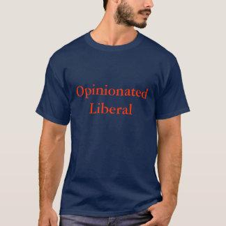 Rechthaberisches liberales blaues T-Stück T-Shirt