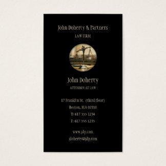 Rechtsanwalt am Gesetz - elegante schwarze Visitenkarte