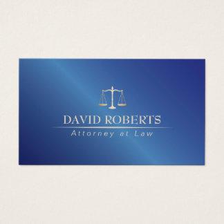 Rechtsanwalt am Gesetzesmetallblau-Rechtsanwalt Visitenkarte
