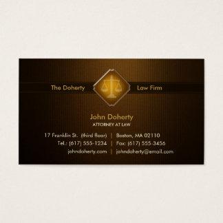 RECHTSANWALT AN GESETZ   elegant Visitenkarte