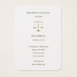 Rechtsanwalt eleganten Gold am Gesetz| Visitenkarte
