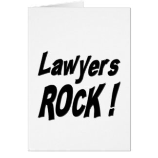 Rechtsanwalt-Felsen! Gruß-Karte Karte