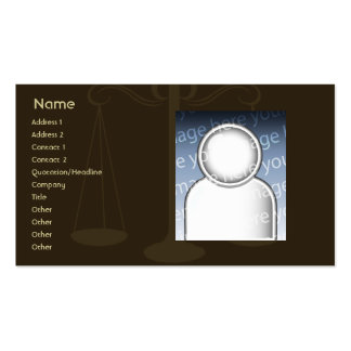 Rechtsanwalt - Geschäft Visitenkarte