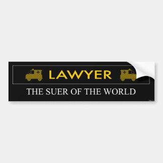Rechtsanwalt ist das Suer des WeltAutoaufklebers Autoaufkleber