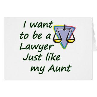 Rechtsanwalt mögen meine Tante Karte
