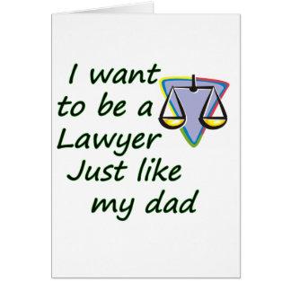 Rechtsanwalt mögen Vati Karte