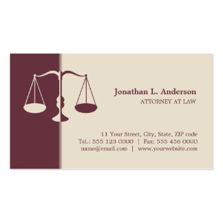 Rechtsanwalt Rechtsanwalt - Burgunder-Visitenkarte