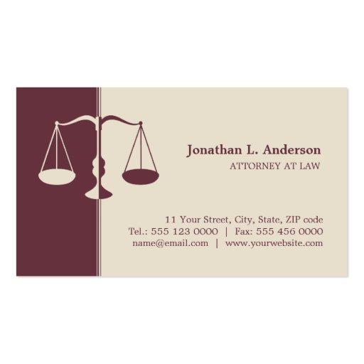 Rechtsanwalt/Rechtsanwalt - Burgunder-Visitenkarte