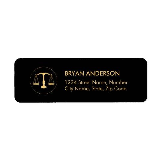 Rechtsanwalt-Rechtsanwalts-Adressen-Etikett Rücksende Aufkleber