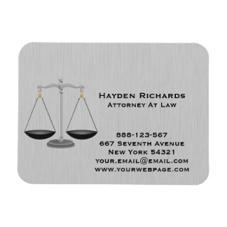 Rechtsanwalt-Rechtsanwalts-Gerechtigkeits-Skalen Magnet