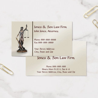 Rechtsanwalt-Rechtsanwalts-Symbol-legale Visitenkarte