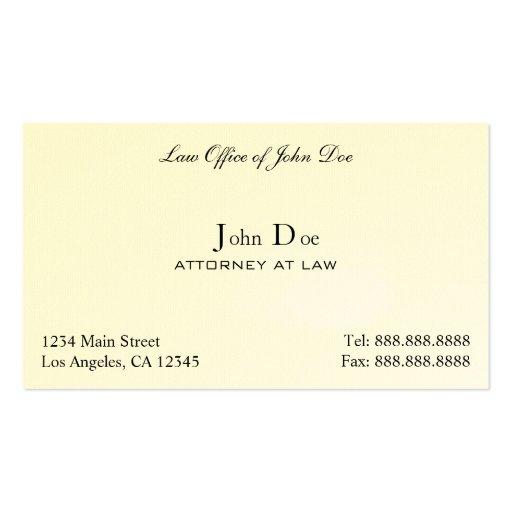 Rechtsanwalt sauber - Rechtsanwaltsbüro Visitenkarten Vorlage