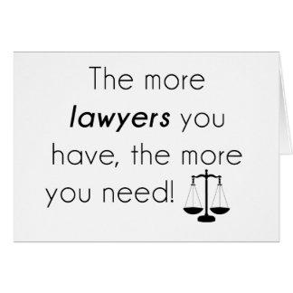 Rechtsanwalt-Spaß Grußkarte