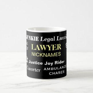 Rechtsanwalt-Spitznamen - die entscheidende Kaffeetasse
