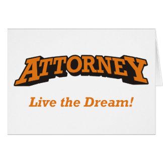 Rechtsanwalt/Traum Karte