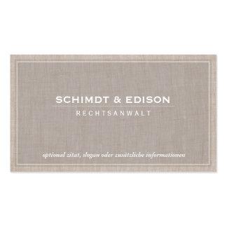 Rechtsanwalt Vornehm Visitenkarten
