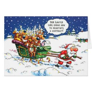 Rechtsanwalt-Weihnachten Grußkarte