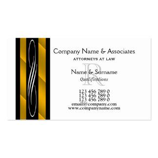 Rechtsanwaltrechtsanwaltsgold Schwarz-weiß Visitenkarten