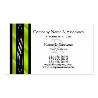 Rechtsanwaltrechtsanwaltsgrün Schwarz-weiß Visitenkarten