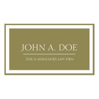 Rechtsanwalts-antike Goldmitte/Grenze W Visitenkarten