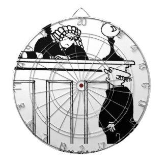 Rechtsanwalts-Cartoon 5496 Dartscheibe