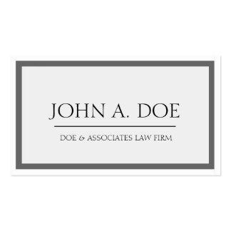 Rechtsanwalts-dunkelgraue/weiße Grenze Visitenkarten