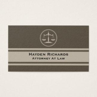 Rechtsanwalts-Gerechtigkeit stuft Rechtsanwalt ein Visitenkarte