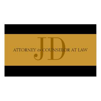 Rechtsanwalts-Gold Gold - verfügbarer Briefkopf - Visitenkartenvorlage