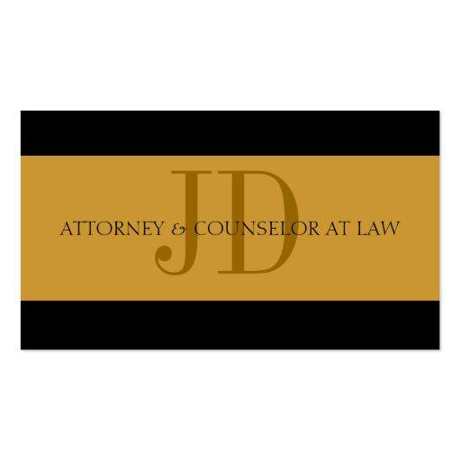 Rechtsanwalts-Gold/Gold - verfügbarer Briefkopf - Visitenkartenvorlage