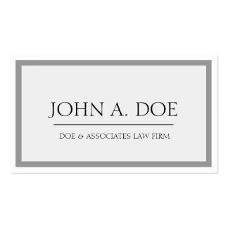Rechtsanwalts-graue/weiße Grenze Visitenkarten