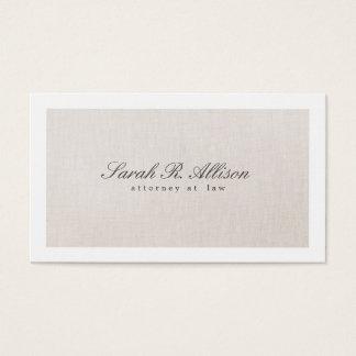 Rechtsanwalts-Imitat-elegante beige Visitenkarte
