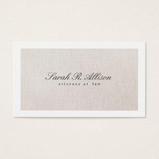 Rechtsanwalts-Imitat-elegante beige Visitenkarten