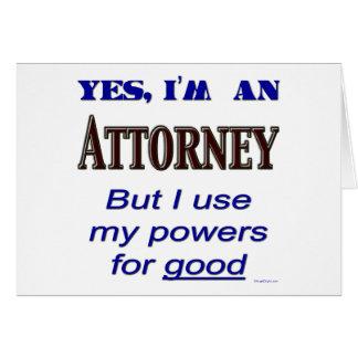 Rechtsanwalts-Power für gutes Sprichwort Karte