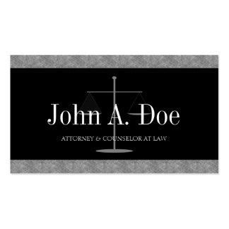 Rechtsanwalts-Rechtsanwalt-Sozietäts-blaue Visitenkarten
