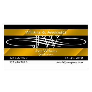 Rechtsanwalts-Rechtsanwaltmonogramm männlich Visitenkarten