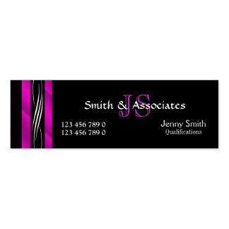 Rechtsanwalts-Rechtsanwaltmonogramm-Rosaschwarzes Mini-Visitenkarten