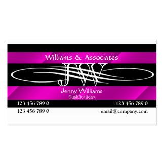 Rechtsanwalts-Rechtsanwaltmonogramm weiblich Visitenkarten