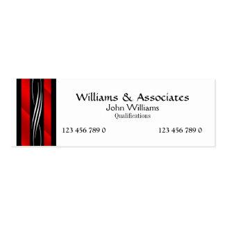 Rechtsanwalts-Rechtsanwaltmonogrammrot Mini-Visitenkarten
