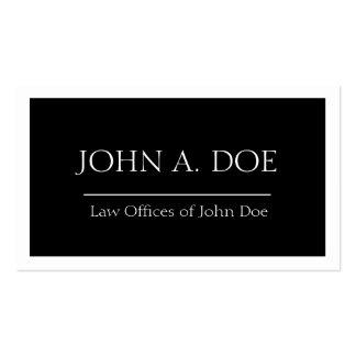 Rechtsanwalts-schwarze Fahne - verfügbarer Visitenkarten