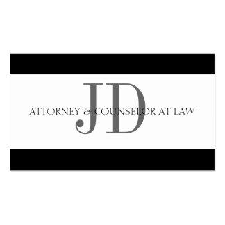 Rechtsanwalts-Streifen-Weiß/Weiß Visitenkarten