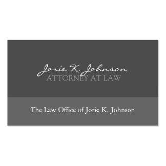 Rechtsanwalts-Visitenkarte - Gewohnheit