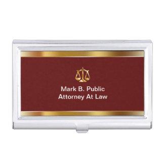 Rechtsanwalts-Visitenkarte-Halter Visitenkarten Etui